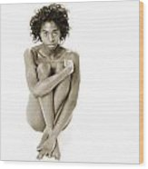 Chynna African American Nude Girl In Sexy Sensual Photograph And In Black And White Sepia 4783.01 Wood Print