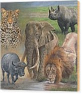 Africa's Big Five Wood Print