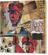 Afro Aesthetic B Wood Print by Everett Spruill