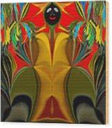 Afro Art Wood Print