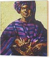 Afro Caribe Fruit Baskit Wood Print