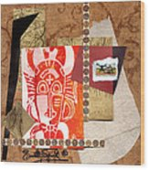 Afro Collage A Wood Print
