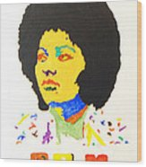 Afro Pam Grier Wood Print