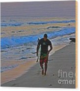 After A Long Day Of Surfing Wood Print by John Malone