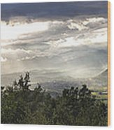 After A Pyrenean Storm Wood Print by Michael David Murphy