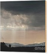 After A Rain Storm Wood Print by Steven Valkenberg