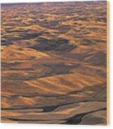 After Harvest From Steptoe Butte Wood Print by Latah Trail Foundation