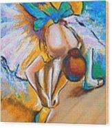 After Master Degas Ballerina Tying Her Shoe Wood Print