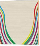 After Morris Louis 2 Wood Print by Gary Grayson