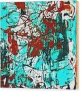 After Pollock Wood Print