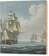 After The Battle Of Trafalgar Wood Print