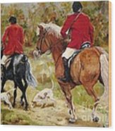 After The Hunt Wood Print