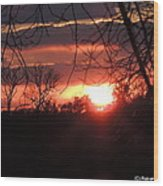 After The Snow Sunset Wood Print