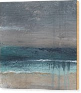 After The Storm- Abstract Beach Landscape Wood Print
