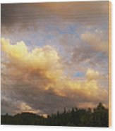 After The Storm -  Lake Arrowhead Wood Print