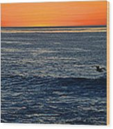 After The Sunset Glow In La Jolla Wood Print