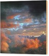 After Tornado Skyscape Wood Print