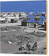 Aftermath Of Pancho Villa's Raid #2 At Columbus New Mexico On March 9 1916-2013  Wood Print