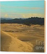 Afternoon At Oregon Dunes Wood Print