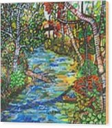 Afternoon At The Creek Wood Print