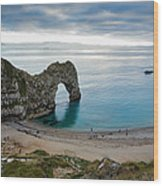 Afternoon Cloud Breaking Up At Durdle Door Wood Print