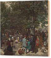 Afternoon In The Tuileries Gardens Wood Print