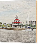 Afternoon On The Water - Hdr Wood Print