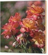 Afternoon Roses Wood Print