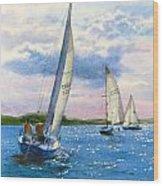 Afternoon Sail Wood Print
