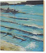 Afternoon Shoreline Wood Print