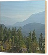 Afternoon Smoke At The Tantalus Mountains Wood Print