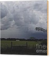 Afternoon Storm Wood Print