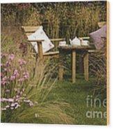 Afternoon Tea Wood Print by Anne Gilbert