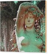 Afton Plantation Garden Statuary  Wood Print