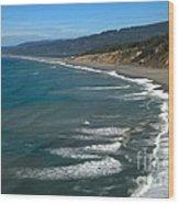 Agate Beach Wood Print
