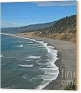 Agate Beach At Patricks Point Wood Print by Adam Jewell