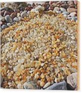 Agate Rock Garden Art Prints Coastal Beach Wood Print by Baslee Troutman