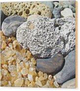 Agate Rock Garden Design Art Prints Coral Petrified Wood Wood Print by Baslee Troutman