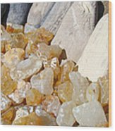 Agate Rocks Beach Art Prints Agates Wood Print