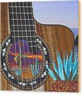 Agave Guitar Wood Print