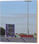 Ageas Bowl Score Board And Floodlights Southampton Wood Print