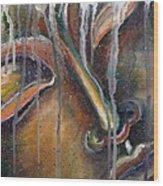 Aged Buddha Wood Print