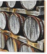 Aged Wine Wood Print