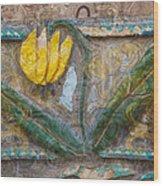Aged Yellow Brilliance Wood Print