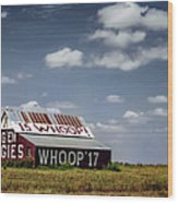 Aggie Barn Wood Print