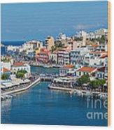 Agios Nikolaos Town Wood Print