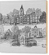 Agnes Scott College Wood Print