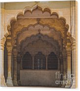 Agra Fort Arches Wood Print