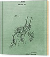 Agriculture Plow Patent Wood Print