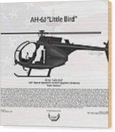 Ah-6j Little Bird Night Stalkers Wood Print